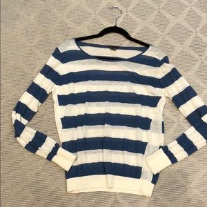 Theory strip light weight sweater